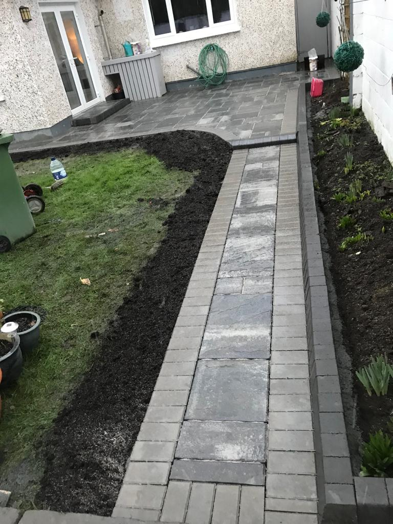 Garden Pavement Installation