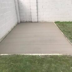 Concrete Back Garden