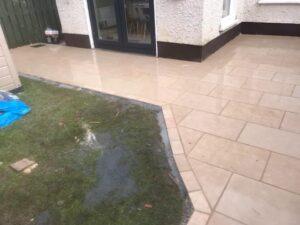 Limestone Patio Laid on Concrete 3