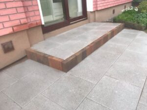 Silver Granite Footpaths Dublin 4